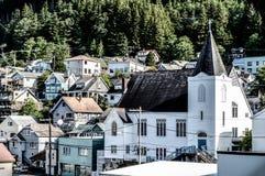 Chiesa situata nell'Alaska Fotografia Stock Libera da Diritti