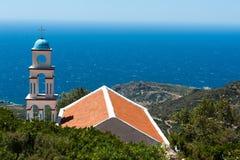 Chiesa sopra il mare Immagine Stock