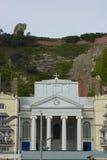 Chiesa sotto le scogliere nella città di Hastings l'inghilterra Immagini Stock Libere da Diritti