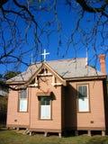 Chiesa spaventosa spettrale nella città Australia di entroterra Fotografia Stock Libera da Diritti