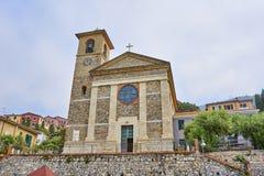 Chiesa Stella Maris - igreja da estrela do ` s de Mary - Tellaro imagem de stock royalty free