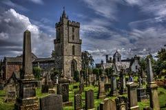 Chiesa in Stirling Graveyard fotografia stock libera da diritti