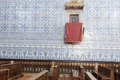 Chiesa storica in Castro, Verde, l'Alentejo, Portogallo immagine stock