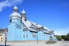 Chiesa storica in Clausthal-Zellerfeld, Germania Fotografia Stock