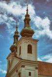 Chiesa storica della repubblica Ceca tradizionale di estate Fotografia Stock Libera da Diritti
