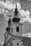 Chiesa storica della repubblica Ceca tradizionale di estate Fotografia Stock