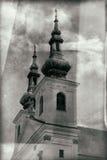Chiesa storica della repubblica Ceca tradizionale di estate Fotografie Stock