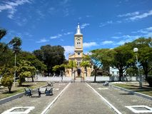Chiesa storica nella città di Quissama, Rio de Janeiro Brazil Fotografie Stock Libere da Diritti