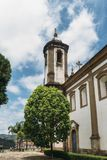 Chiesa storica in Ouro Preto, Minas Gerais, Brasile fotografie stock