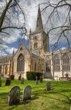 Chiesa a Stratford sopra Avon Fotografie Stock Libere da Diritti