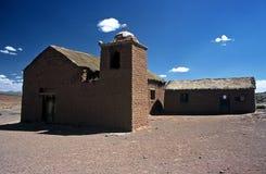 Chiesa su Altiplano in Bolivia, Bolivia Immagini Stock Libere da Diritti