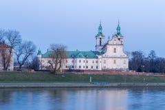 Chiesa su Cracovia di roccia, Polonia immagine stock