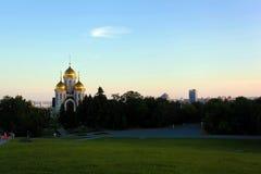Chiesa su Mamayev Kurgan Fotografia Stock