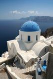 Chiesa su Santorini Fotografia Stock Libera da Diritti