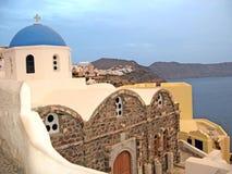 Chiesa su Santorini Immagini Stock Libere da Diritti