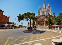 Chiesa su Tibidabo, Barcellona Fotografia Stock Libera da Diritti