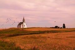 Chiesa su una collina Immagini Stock Libere da Diritti