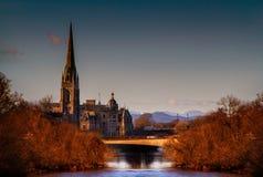 Chiesa sul fiume Tay Fotografie Stock