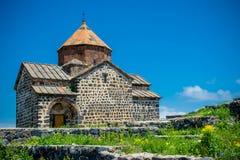 Chiesa sul lago Sevan Fotografia Stock