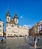 Chiesa sul quadrato di Città Vecchia, Praga Immagine Stock Libera da Diritti