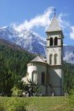 Chiesa in Sulden Fotografia Stock Libera da Diritti
