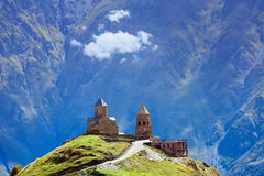 Chiesa sull'alta montagna Immagine Stock Libera da Diritti