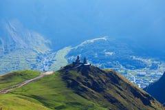 Chiesa sull'alta montagna Fotografia Stock Libera da Diritti