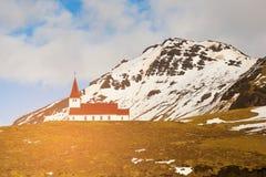 Chiesa sull'alta montagna della collina Fotografie Stock