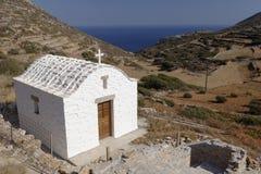 Chiesa sull'isola di Amorgos Fotografia Stock Libera da Diritti