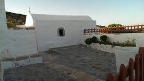 Chiesa sull'isola di Levitha Immagine Stock