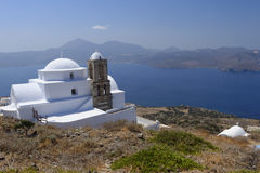 Chiesa sull'isola di Milo fotografie stock