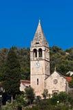 Chiesa sull'isola Sipan, Croatia Fotografia Stock Libera da Diritti