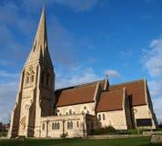 Chiesa sulla brughiera Fotografia Stock