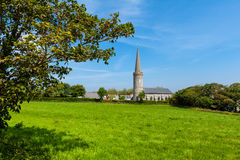 Chiesa sulla campagna di Guernsey Immagini Stock
