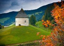 Chiesa sulla collina Fotografia Stock