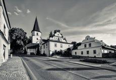 Chiesa sulla collina Immagine Stock