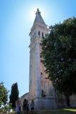 Chiesa SV di Rovigno Eufemie - la Croazia Immagini Stock Libere da Diritti