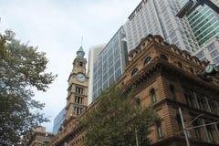 Chiesa Sydney City New South Wales, Australia di riflessione immagini stock libere da diritti