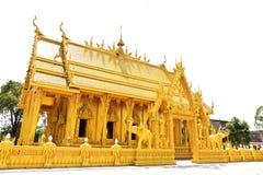 Chiesa tailandese dorata Fotografia Stock Libera da Diritti
