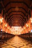 Chiesa tailandese interna Immagine Stock