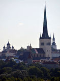 Chiesa Tallinn Estonia della st Olaf Fotografie Stock