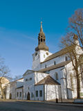Chiesa a Tallinn medioevale immagine stock libera da diritti