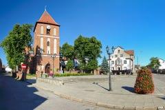 Chiesa in Tolkmicko, Polonia. Fotografie Stock Libere da Diritti