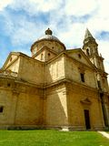 Chiesa toscana della campagna Immagine Stock