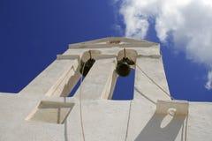 Chiesa tradizionale in Grecia con una campana Fotografia Stock Libera da Diritti