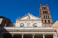 Chiesa in Trastevere, Roma del Santa Cecilia immagine stock