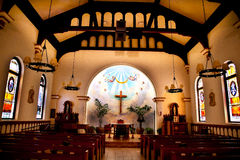 Chiesa trasversale di concezione immacolata dell'altare Fotografia Stock Libera da Diritti