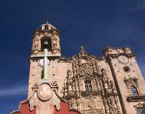 Chiesa trasversale Messico dello Steeple della Bell immagini stock