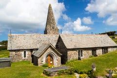 Chiesa Trebetherick Cornovaglia della st Enodoc Fotografie Stock Libere da Diritti