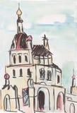 Chiesa in un monastero femminile Immagini Stock